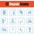 set of flat repair icons vector image vector image
