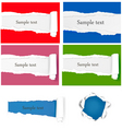set with ripped papers vector image vector image