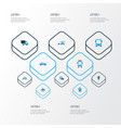 shipment colorful icons set collection of autobus vector image vector image