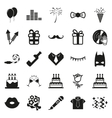 simple black Party and Celebration icon set vector image vector image