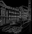 sketch street madrid vector image