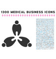 stomatology icon with 1300 medical business icons vector image