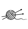 tangle of thread and knitting needles vector image