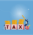 tax payment concept-financial annual accounting vector image