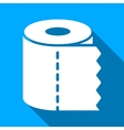 Toilet Paper Roll Flat Long Shadow Square Icon vector image vector image