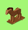 trojan horse isometric vector image