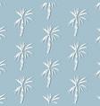 tropical palm leaf on blue background floral vector image vector image