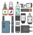 vape device cigarette vaporizer vapor juice vector image vector image