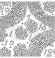 vologda lace seamless pattern vector image
