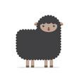 funny black sheep cartoon vector image
