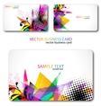 modern business-card set vector image