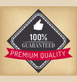 100 percent absolute guarantee premium quality vector image