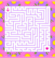abstract colored square maze in a frame of vector image vector image