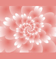 abstract floral spiral background wallpaper vector image vector image