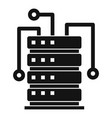 ai server rack icon simple style vector image