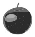 Apple icon gray monochrome style vector image vector image