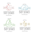 Baby shower hand drawn invitations set vector image vector image