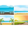Beaches vector image vector image