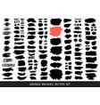 big collection black paint ink brush strokes vector image vector image