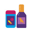 bird vitamin or medicine icon in flat style vector image