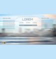blurred street view background vector image vector image