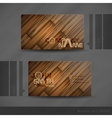 Business Card Design With Wood Texture vector image vector image
