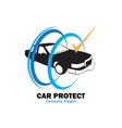 car protect vector image vector image