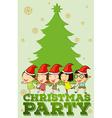 Children singing christmas songs vector image