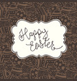 chocolate happy easter vintage greeting card vector image vector image