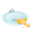 Cleaning basin vector image vector image