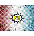 comic duel composition vector image vector image