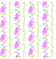 Cute seamless pattern with the floral and leaves vector image vector image