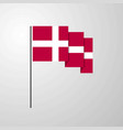 denmark waving flag creative background vector image vector image