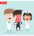 Doctor use stethoscope checking up vector image vector image