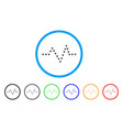 dotted pulse rounded icon vector image vector image