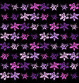 exotic flower pattern seamless background vector image