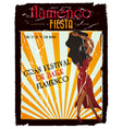 flamenco poster vector image