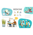 flat medical treatment concept vector image vector image