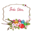 Frohe Ostern vector image vector image