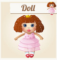 girl doll cartoon vector image