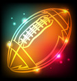 glowing american football icon vector image vector image