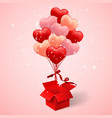 happy valentines day background balloon in form vector image vector image
