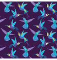 Hummingbird Background - Retro seamless pattern vector image vector image
