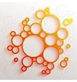 Infographics red and orange gradient circles vector image