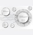 infographics with circles technology on white vector image vector image