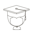 isolated boy with graduation cap design vector image vector image