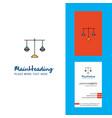 libra creative logo and business card vertical vector image vector image