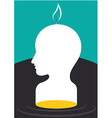 Life Is Like A Candle vector image vector image