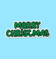 merry christmas icon isolated holiday sticker vector image