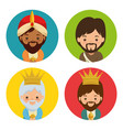 merry christmas three magic and wise kings vector image vector image